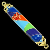 1297- Mezuzah Case, jeweled, small