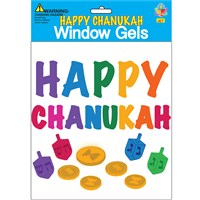 0177-A- Window Gel Fun - Happy Chanukah