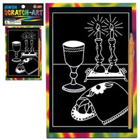 0304-B- Scratch Art - Shabbat