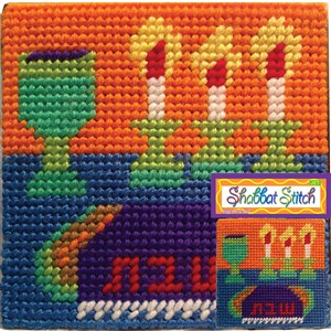0308-D- Shabbat Stitch Art