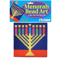 0311-C- Bead Art - Menorah