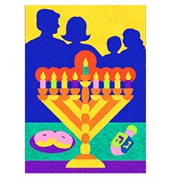 0330-CC- Chanukah Celebration Sand Art - Bulk