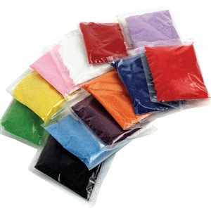0334- Craft Sand (12 packs, 12 colors/pack)