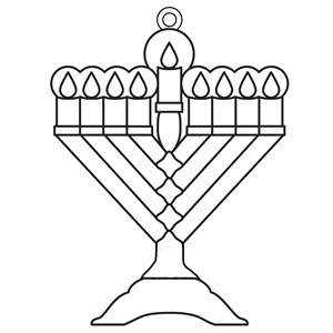 0340-M- Suncatchers - Menorah - BULK