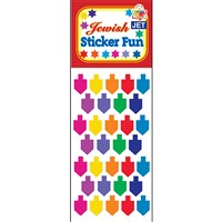 0382- Dreidel stickers-prismatic