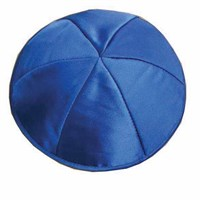 0781-BB-M- Kippah - Satin, Baby Blue, Medium