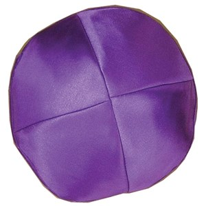 0781-PU-M- Kippah - Satin, Purple, Medium