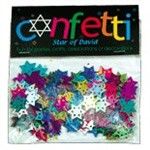 0822- Star of David Confetti (Rainbow Colors)