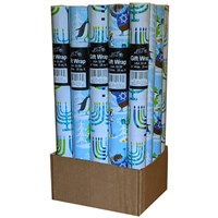 0827- Assorted (4) Gift Wrap Rolls