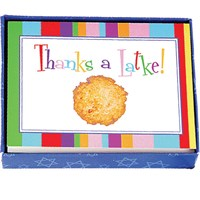 0833- Hannukah Thank You Cards - Striped