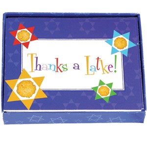 0834- Hannukah Thank You Cards - Blue