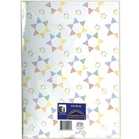 0837- Gift Wrap Sheets - Rainbow Stars