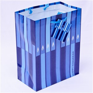 0866-E- Hanukkah Gift Bag - Lights