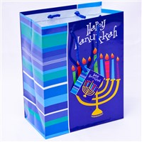0866-G- Hanukkah Gift Bag - Menorah