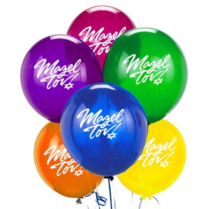 0889- Mazel Tov Balloons (pack of 6)
