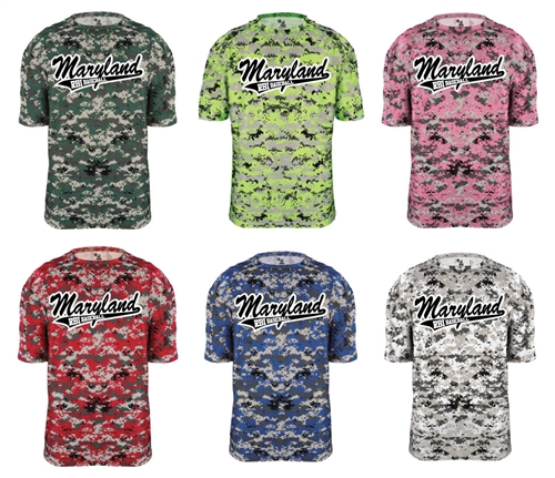 Blue digital camo baseball jerseys b core digital ss performance