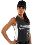 Diamond Sleeveless Softball Jersey with logo and numbers
