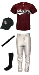 RBI 2-Button Baseball Uniform