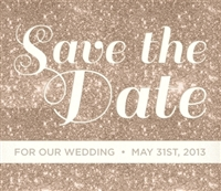 All That Glitters Is Gold Save The Date