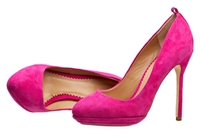 Candy Pink Suede Pumps