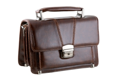 Stiched Leather Briefcase
