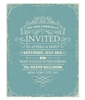 Vintage Blue Invitation
