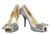 Silk Bow Peeptoe Pumps