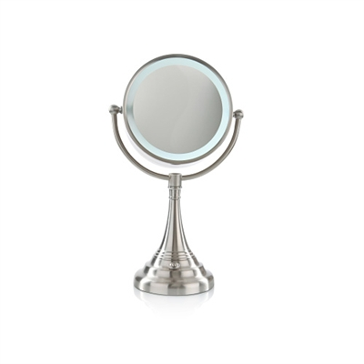 Cordless LED Lighted Pivoting Vanity Mirror