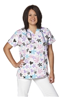 Hearts and Flowers Women's Scrubs