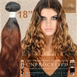 Brazilian Remy Human Hair Weft 18 Inches. 100g Natural Black 33