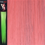Colour Flash 16 inches Synthetic Clip in Hair Extensions Colour Pink