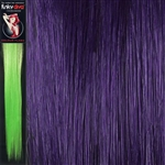 Colour Flash 16 inches Synthetic Clip in Hair Extensions Colour Purple