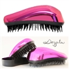Dessata Bright Detangling Hairbrush Chrome Fuchsia