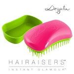 Dessata Mini Detangling Hairbrush Fuchsia & Lime