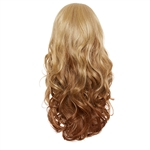 Balayage, Ombre Three Quarter Hair Piece Curly Butterscotch and Nutmeg
