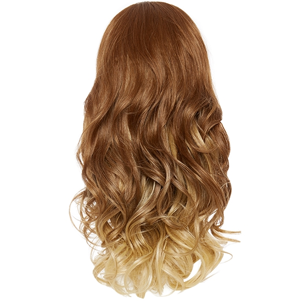 Balayage Ombre Three Quarter Hair Piece Curly Golden Honey