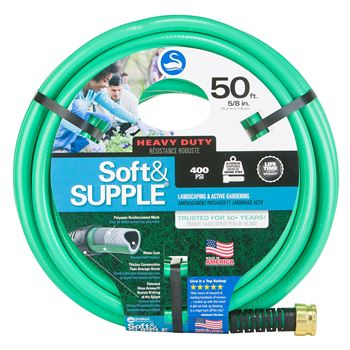 Durable and easy to handle 5/8-in. 50-ft.  Swan Swan Soft & Supple garden hose with abrasion-resistant coating