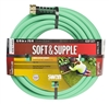 Versatile and durable 75-ft. 5/8-in. Swan Swan Soft & Supple garden hose with abrasion-resistant cover