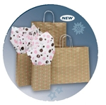 Elegant Dots Paper Shopping Bags