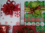 24x833 Closeout Do Not Open Until Christmas/Snowflake Reversible Foil Embossed Giftwrap