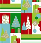 Merry Christmas Trees Giftwrap