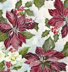 Painterly Poinsettias Giftwrap