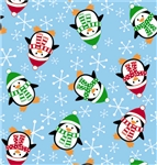 Roly Poly Penguins Giftwrap