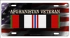 Afghanistan Campaign veteran personalized novelty license plate