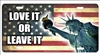 America Love it or leave it novelty front license plate decorative vanity car tag
