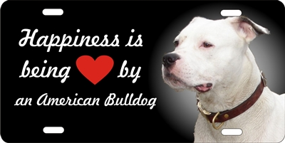 American Bulldog novelty license plate