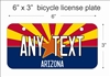 Arizona Flag Mini License Plate for Bicycles, Bikes, Wheelchairs, Golf Carts personalized for you. can also be used as a door sign.