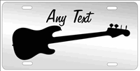 Bass Guitar personalized novelty front license plate Decorative vanity music car tag
