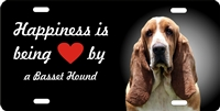 Basset Hound license plate