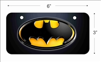 Batman Mini License Plate for Bicycles, Bikes, Wheelchairs, Golf Carts personalized with your design custom vanity Decorative plate
